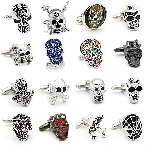 15 Free Shipping Skull Cufflinks 28 Vintage Skeleton Designs Men