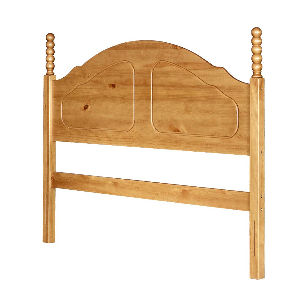 MUSEHOMEINC Florida Solid Wood Headboard Panel with Arches Rail and Turning Type Topped Design, Honey Pine,Queen by MUSEHOMEINC