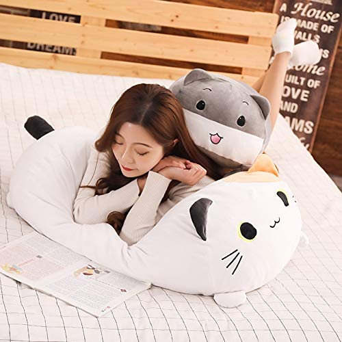 GOOGEE Animal Plush Pillow - Super Soft Stuffed Animal Plush Pillow Hamster Cat Penguin Inu Dog Plush Toy Cushion - 36 Inch Black Cat - Throw Toys Big Soft Shaped Animals Interesting Anime