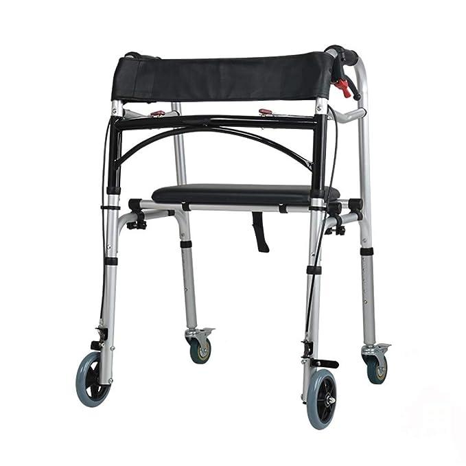 Idea Simple Andador de Andador Médico Plegable con Ruedas de ...