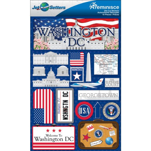 Reminisce Jet Setters Dimensional Stickers-Washington D.C.