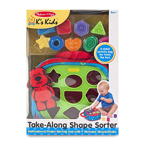 Melissa & Doug Take-Along Shape-Sorter Baby and Toddler Toy (Developmental Toys, For Babies & Toddlers)