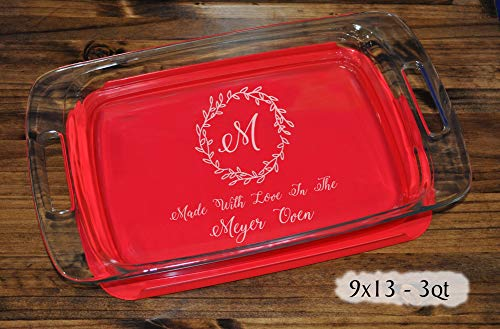 Personalized Monogram Gifts | Wedding Gift For Couple | Personalized Baking Pan | Family Name Gift | Engraved Baking Pan | Christmas Gifts -
