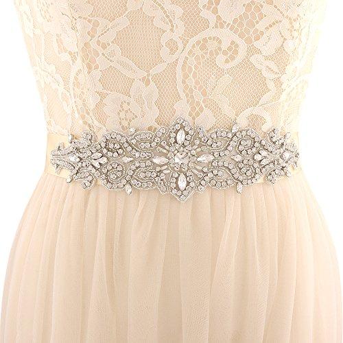 Azaleas Women's Wedding Belt Sashes Bridal Sash Belts for Wedding,Champagne