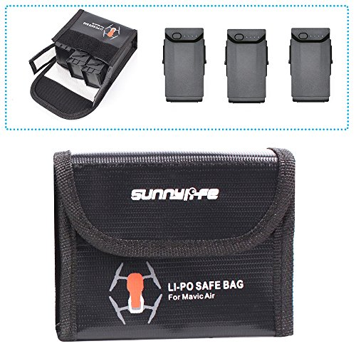 Drone Fans Battery Case LiPo Safe Bag Protective Storage Bag Explosion-Proof for DJI Mavic AIR