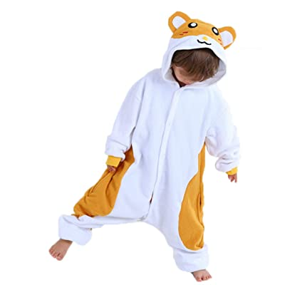Unisex Child Pajama Plush Onesie One Piece Animal Costume Kids Fleece Pajamas: Clothing