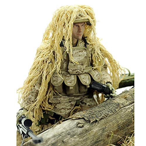 HMANE 12Inch 1:6 Scale Realistic Soldier Model Toy Doll Movable Joint Bendable Action Figure Desert Camouflage Military Soldier Model - (Desert Sniper)