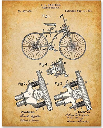Bicycle - 11x14 Unframed Patent Print - Makes a Great Gift Under $15 for Bicyclists