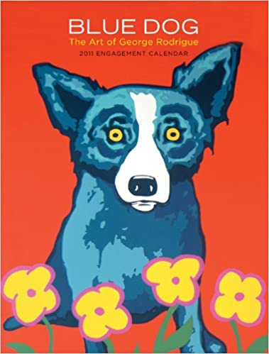 blue dog the art of george rodrigue 2011 engagement calendar