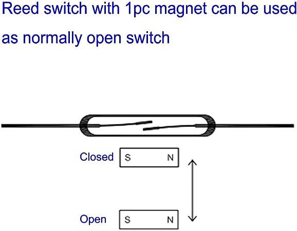 Big XL 35pcs 5 mm x 47 mm Reed magnétique verre interrupteurs pas de contacts grand