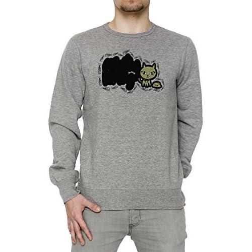 60% de descuento Gato Gris Algodón Hombre Sudadera Sudaderas Jersey  Pullover Grey Men s Sweatshirt Pullover 2d6fd78e10a8