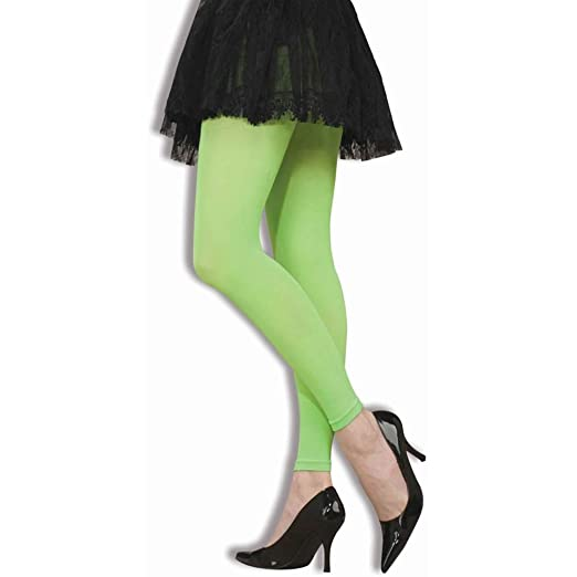 306f06574 Amazon.com  Neon Green Footless Tights - ST  Clothing