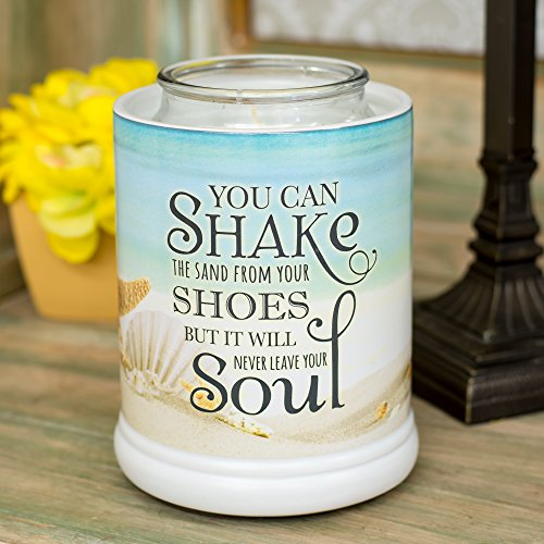 Elanze Designs Shake The Sand from Shoes Beach and Ocean Stoneware Electric Jar Candle Warmer by Elanze Designs (Image #1)