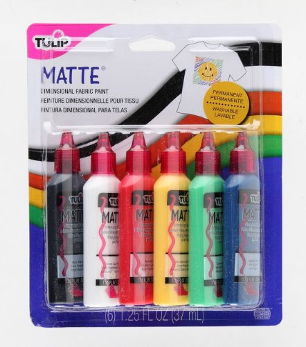 Price comparison product image Tulip 15553 Dimensional Matte Fabric Paint, 6-Pack