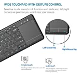 iClever 2.4 GHz USB Wireless Keyboard with Big High Sensitive Touchpad for Andriod Smart TV Google Box Raspberry HTPC IPTV Windows 10