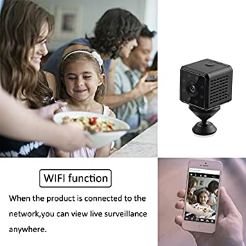 XIXCAMLOOK Mini Hidden Camera,Mini WiFi HD 1080P Wireless Security Nanny Cam with Night Vision and Motion Detective,Portable Perfect Indoor Covert Security Camera for Home and Office