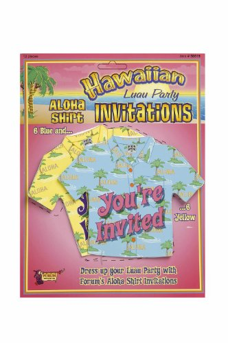 Forum Novelties Hawaiian Luau Aloha Shirt Party Invitations ()