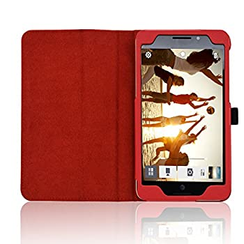 Acdream Asus Memo Pad 7 Lte Case, Premium Pu Leather Smart Cover Case For At&t Asus Memo Pad 7 Lte Gophone Prepaid Tablet Me375cl, Red 7