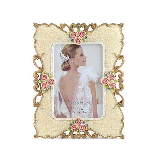 Fairy Frame - ETECHMART Unique Handcrafted Resin 6x8 Picture Frame Holds 4x6 Photos - Portrait or Landscape