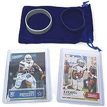 Dak Prescott & Ezekiel Elliot Rookie Cards Assorted 2 Bundle. 1 Each - Dallas Cowboys Football Trading Cards - Both 2016 RCs