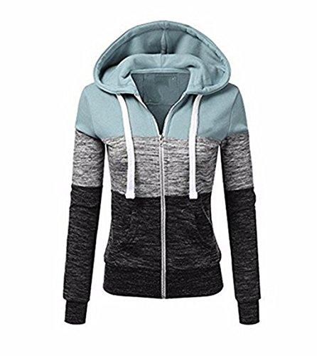 Manches Femme Zipp Capuche Veste Sweatshirt Longues ZIYYOOHY Automne Sport Ydvq7q