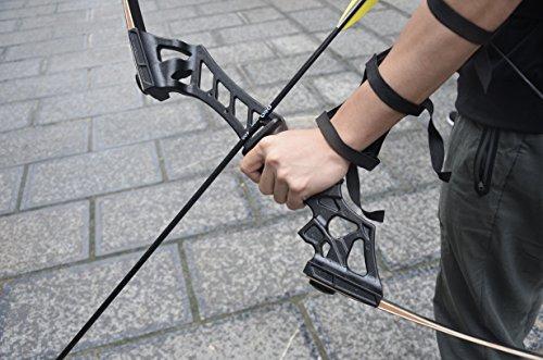 """6x 30/"""" Archery Diameter 8mm Fibeglass Arrows Black Features Fit Recurve Bow"""