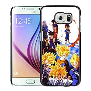 High Quality Samsung Galaxy S6 Skin Case ,Dragon Ball Z (2) Black Samsung Galaxy S6 Screen Cover Case Popular And Unique Custom Designed Phone Case
