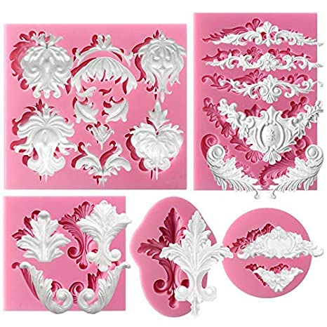Lace Border Flower Silicone Fondant Mould Cake Decoration Sugarcraft Icing Mold
