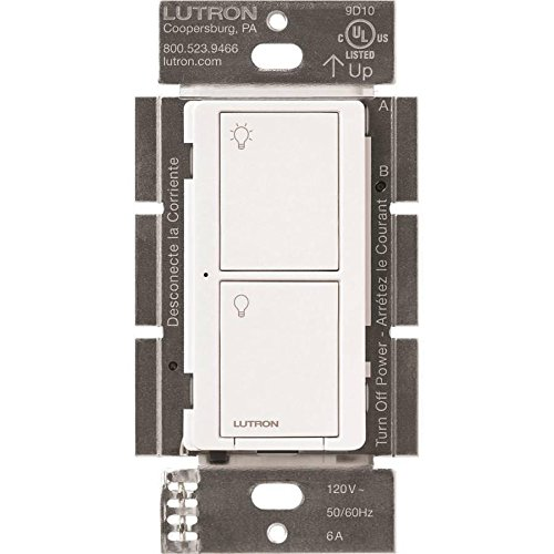 Caseta Wireless Smart Lighting Switch for All Bulb Types and Fans, White