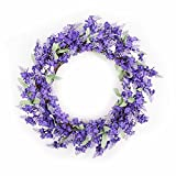 FAVOWREATH 2018 Romance Series FAVO-W13 Handmade 12 inch Purple Lavender Fall Grapevine Wreath For Spring Summer Festival/Memorial Day Front Door/Wall/Fireplace Wedding Floral Hanger Floral Home Decor