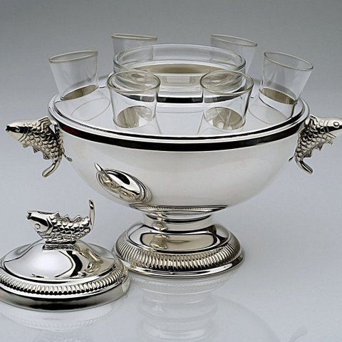 Nemo Caviar and Vodka Server (silver-plated)