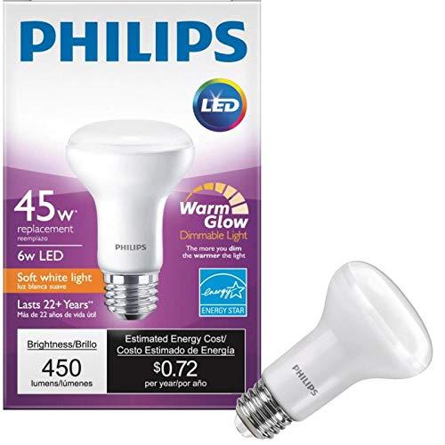 ((12-Pack) Philips 456979 45 Watt Equivalent 2700K - 2200K R20 Dimmable Soft White LED Performance Reflector)