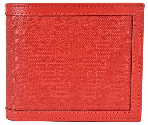 Gucci Men's Tabasco Red Leather Diamante Bifold - Gucci Red
