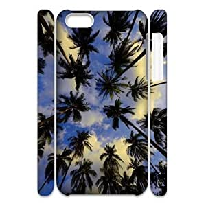 DIY 3D Cover Case for iPhone 5c w/ Palm Trees image at Hmh-xase (style 1) by gostart by trustaaa
