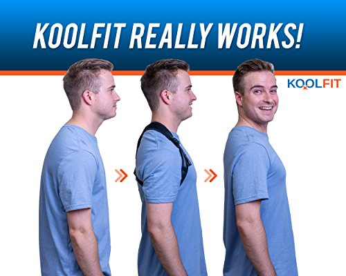 KOOLFIT Back Posture Corrector – Adjustable Back Brace Corrector for Men and Women – Shoulder Pain Relief – Comfortable and User-Friendly – Supports Fast Injury Recovery – Prevents Hunching, Slouching by KOOLFIT (Image #5)