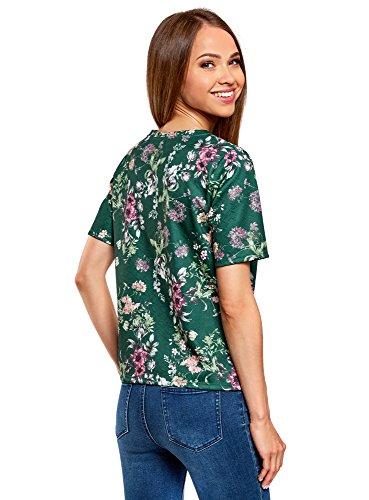 in oodji Dritta T Donna 6941f Tessuto Ultra Strutturato Verde Shirt r46x6wgn