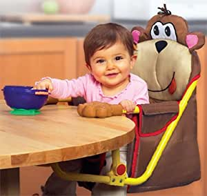 Munchkin Feeding Friend Portable Hook On Chair - Monkey (Discontinued by Manufacturer)