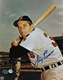 Jimmy Piersall Cleveland Indians Autographed 8x10 Photo -Posing with his bat- Autographed - Autographed MLB Photos
