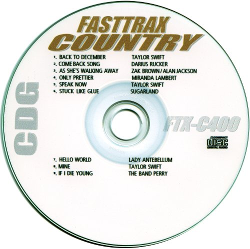 Fasttrax Country Karaoke 5 Disc Set FTX-400, FTX-401, FTX-402, FTX-403, FTX-404 May 2011