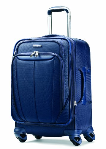 Nylon Tri Fold Carry On - Samsonite Luggage Silhouette Sphere Expandable 21 Inch Spinner, Indigo Blue, One Size