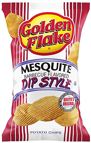 Golden Flake Mesquite Barbeque, Dip Style Potato Chips, 5 oz Bags (Pack of ()