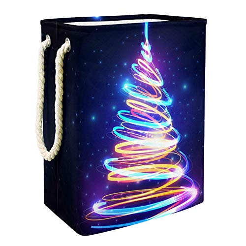 Kids Storage Basket Colorful Christmas Tree Toy and Accessory Storage Bin Collapsible Organizer Storage Basket for Home…