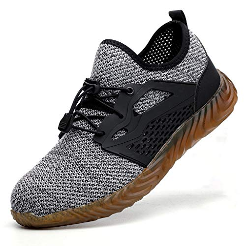 Outsta Men's Mesh Breathable Walking Running Tennis Shoes Casual Lightweight Lace up Sneaker 2019 Gray
