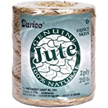 Jute Cord, 2 Ply, Natural,133 Yards, 20 Pound Strength, (Pack of 1) by Darice