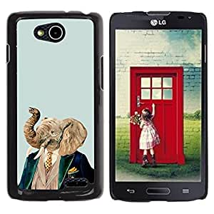 PC/Aluminum Funda Carcasa protectora para LG OPTIMUS L90 / D415 Elephant Art Portrait Painting Noble Man / JUSTGO PHONE PROTECTOR