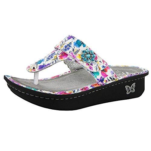 Alegria Women's Carina Perennial Crackle Sandal, 41 M EU / 10.5 B(M) US (Footwear Crackle)