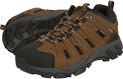 Gravel Gear Men s Waterproof Low Oxford Hiker Boots – Brown, Size 12