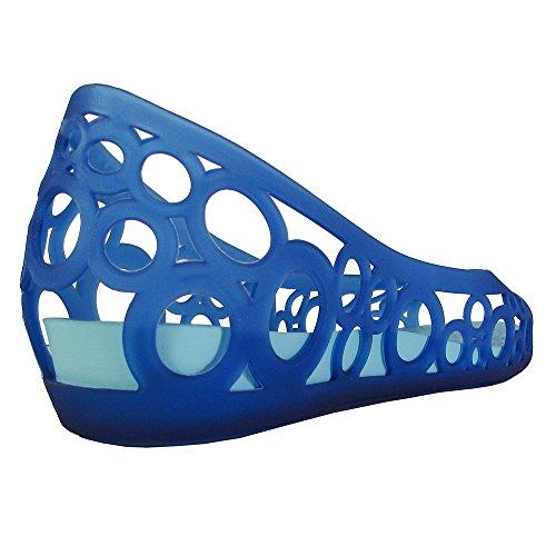 Crocs Femme Adrina Bout Ouvert Slip Sur Chaussures Plates Bleu Cerulean / Ice Blue