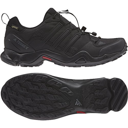 adidas outdoor Men's Terrex Swift R GTX Black/Black/Dark Grey Hiking Shoes - 11.5 D(M) US (Adidas Trail Running Shoes Men)