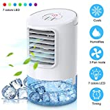 Mkocean Personal Air Cooler, Mini Space Cooler, Desktop Air Conditioning Fan with 3